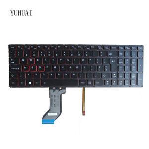 Original New for Lenovo IdeaPad Y700-15ISK Y700-17ISK UK Black Backlit Keyboard