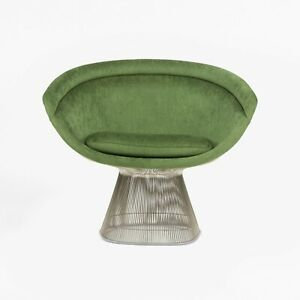 2020 Warren Platner for Knoll International Green Chenille Fabric Lounge Chair