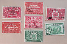CANADA SET OF 7 SPECIAL DELIVERY STAMPS 1922 to 1942 - USED HIGH GRADE - [201]