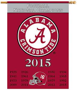 University of Alabama 2015 National Championship Two-Sided Banner