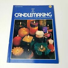 1972 Step By Step Candlemaking By Mary Carey, Vintage Candle Craft Book