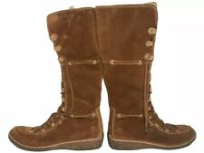 Timberland woman's size 10 m knee high lace up boots olive brown leather