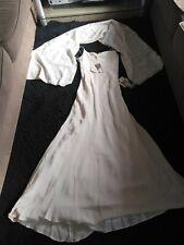 """Vestido de novia Monsoon """"Carina"""" Pura Seda de 2 piezas tamaño Uk12.RRP subasta barato £ 245."""