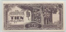 NEI Japanese Occupation, Indonesia 1942, 10G Tien Gulden, SI (UNC)
