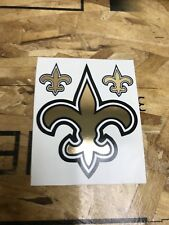 """New Orleans Saints NFL Football Chrome Gold Logo Decal Sticker- 4"""" - 3 for 1"""