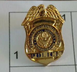 Federal Protective Service mini badge shield pin - GSA / Obsolete - Vintage