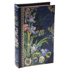 Hidden Book Safe Lock Box with Keys Floral Secret Security Cash Money Jewelry