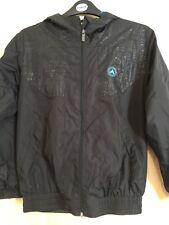 Boys Air Walk Black Summer Track Jacket Size 9-10 Years