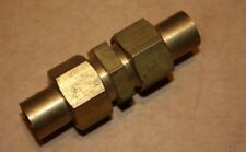 """Solder Olive 1/2"""" Equal Copper Pipe Union Hex Bodied."""