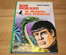 LIVRE BIBLIOTHEQUE VERTE BOB MORANE Le dragon des fenstone Henri VERNES 1982