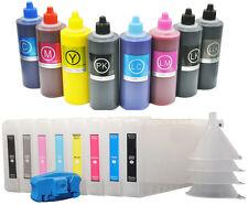 8X300 Refillable Ink Cartridge+8X200ml UltraChrom K3 Ink for Epson 4000+Resetter
