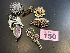 Vintage Job Lot Crystal Brooches Coro Jewelcraft #150