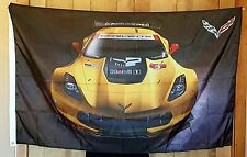 Corvette yellow C-7 Car Flag 3' X 5' Indoor Outdoor Auto Banner Racing Team jake
