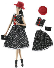4in1 Set Fashion Doll Clothes Outfit Top+skirt+hat+bag for 11.5 in. Doll #04