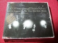 BLUE Featuring ELTON JOHN . SORRY SEEMS TO BE THE HARDEST WORD /  U.K. No.1 Hit
