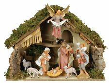 Roman Fontanini - 8 Piece Nativity Set with Italian Stable (54829)