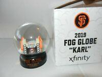 San Francisco SF Giants Karl the Fog Snow Globe Oracle Park SGA 8/10 2019 New
