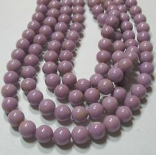 """Orchid Purple Phosphosiderite 8mm Round Beads 16"""" South American Natural Stone"""
