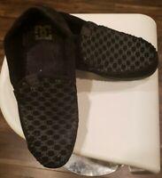 DC Shoes(Villain) Print Slip On Suede Black Skate Shoes Mens Sz 14 US 47EUR