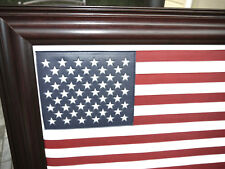 American flag with Leather. High Quality Mohagony UNIQUE Gift  Idea.