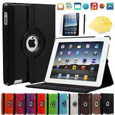 ★360° Apple iPad 2&3&4 Schutz Hülle+Folie Kunstleder Tasche Smart-Cover Case 11F