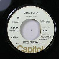 Soul Promo 45 Copperpenny - Disco Queen / Disco Queen On Capitol Records