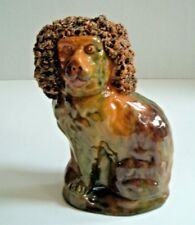 Redware Spaniel Bank c.1860 ~ George Wagner Carbon County Pa Lehighton Antique
