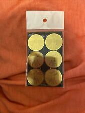 6pcs Gold Anti Emf Radiation Protection Shield Stickers for Cell Phone Laptop Us