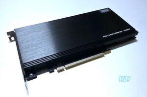 Quad M.2 SSD NVMe Controller PCIE 3.0 Card *Apple Mac Pro 3,1-5,1/ 7,1 #PLX 8747
