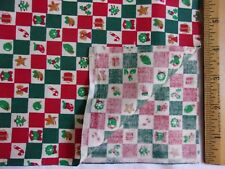 New listing ChristmasBlocks/Squar es onCreamCotton Quilting Sewing Fabric -1 Yard