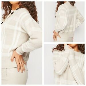 Ladies Beige Mix Jumper Size 22 Long Sleeve Crew Neck Very Soft NEW NWOT 🌹