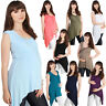 Women Maternity Sleeveless Swing T Shirt Pregnancy Summer Long Vest Top Tee Cami