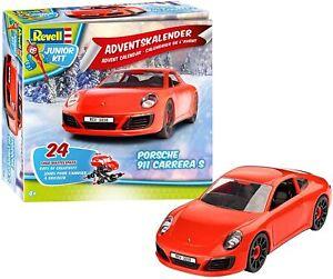 Revell 01018 Junior Kit - Adventskalender Porsche 911 Carrera S Rot NEU & OVP