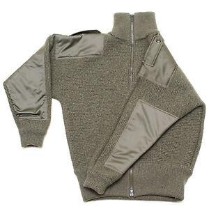 100% Merino Wool New Dachstein Woolwear Military Cardigan Sweater from Austria
