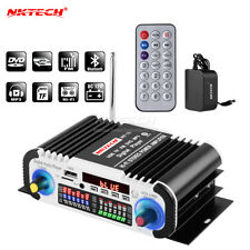 NKTECH HY-V6 Car Audio Digital Amplifier Player Bluetooth Stereo HiFi TF DVD MP3
