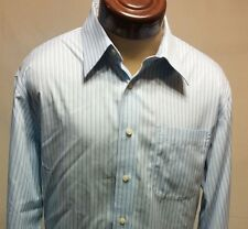 Saks Fifth Avenue Long Sleeve Button-Up 100% Cotton Dress Shirt Size 16.5 - 35
