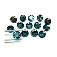 Natural London Blue Topaz Round Faceted 2 to 5 mm Calibrated Size Loose Gemstone