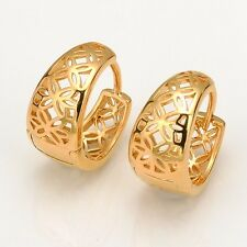 Charms Earrings HOT Hoop 18k Yellow Gold Filled 15mm Unique Jewelry Fashion Gift