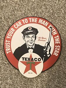 Wood MDF Texaco Gasoline Gas 3D Sign Plaque Garage Mancave Home Accents Brand
