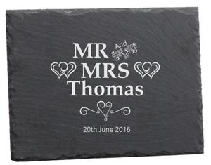 Premium Slate Chopping Board Wedding Anniversary Birthday Gift Personalised