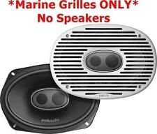 """*New* Pair Polk Audio DXi69MG 6x9"""" Marine Grille for DXi690 Speakers (White)"""