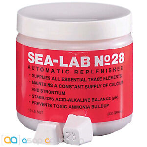Sea-Lab No. 28 Automatic Replenisher 0.5 lb. Jar (50 blocks) for Marine Aquarium