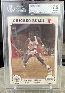 1985 Bulls Interlake Michael Jordan #1 Rookie RC BGS 7.5
