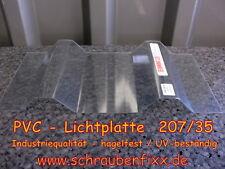 PVC Lichtplatte Trapezbleche Dach 35/207 glasklar,hagelfest, Industriequalität