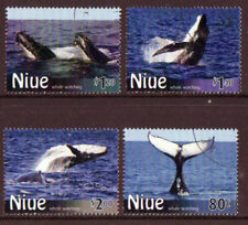 NEW ZEALAND 2010 NIUE WHALES SET OF 4 FINE USED