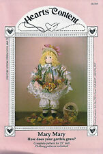 "Doll Sewing Craft Pattern for 23"" Doll and Doll Clothing - Vintage Heirloom Mary"
