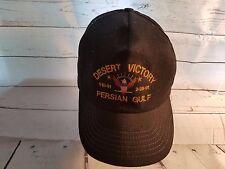 Desert Victory Persian Gulf 1991 Snapback Hat Cap Black Yellow 1-16-91- 2-28-91