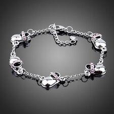 Designer White Gold Plated Baby Shoe Design Bracelet Bangle Women Jewellery Gift