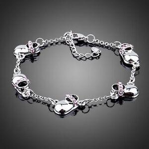 Shoe Design Silver Bracelet White Gold Plated Statement Bangle Women Jewellery