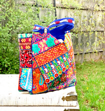 Vintage Boho Large Tote Hippie Style Indian Banjara Bag Embroidered PatchworkBag